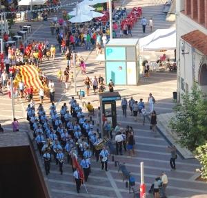 La Fila acompanya amb la seva música l´acte de celebració de la Diada Nacional de Catalunya a Amposta