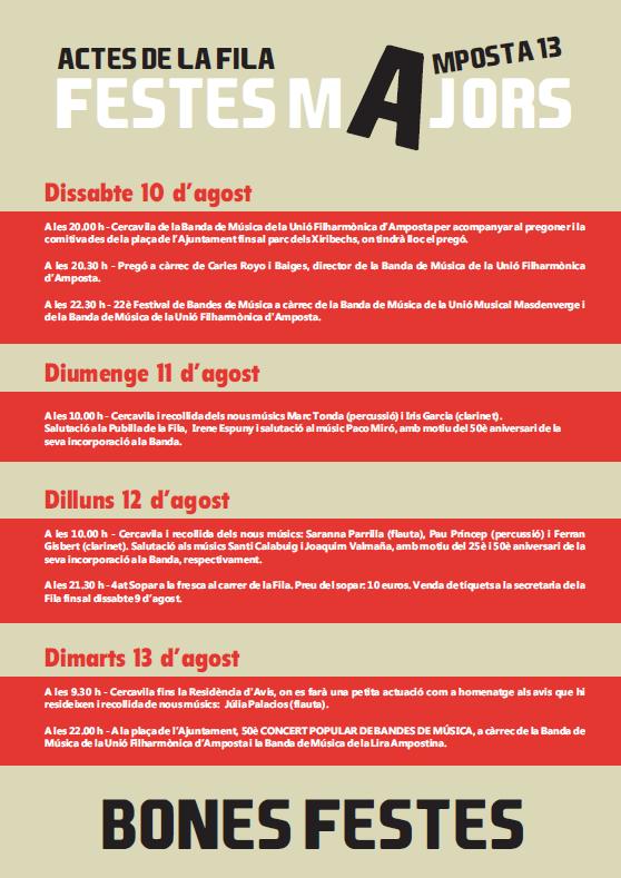 """Societat Musical La Unió Filharmònica d´Amposta > Arxiu de notícies > <img src=""""img/actes_fila_festes_2013a.png"""">"""