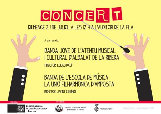 Societat Musical La Unió Filharmònica d´Amposta > Arxiu de notícies > Ens visita la Banda Jove de l´Ateneu Musical i Cultural d´Albalat de la Ribera