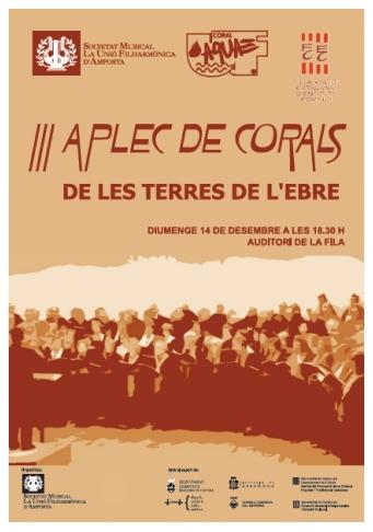 Societat Musical La Unió Filharmònica d´Amposta > Arxiu de notícies > III Aplec de Corals de les Terres de l´Ebre