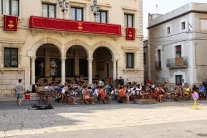 Galeria de fotos de l´assaig de la Banda de Música a la plaça de l´Ajuntament