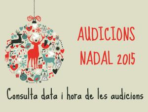 Audicions de Nadal 2015