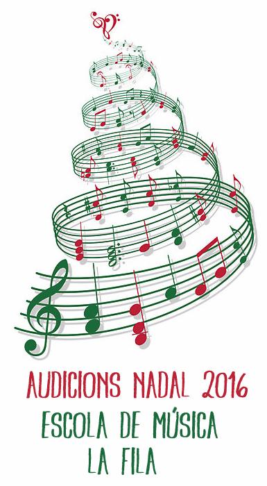 Societat Musical La Unió Filharmònica d´Amposta > Arxiu de notícies > Audicions de Nadal de l´Escola de Música