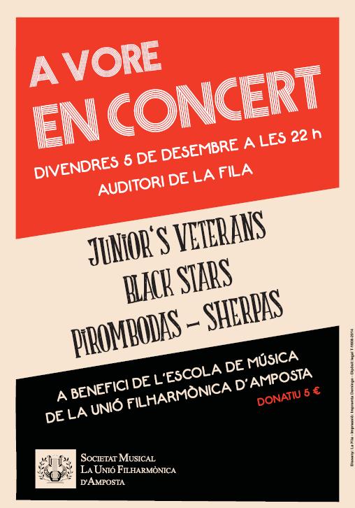 Societat Musical La Unió Filharmònica d´Amposta > Arxiu de notícies > A VORE EN CONCERT