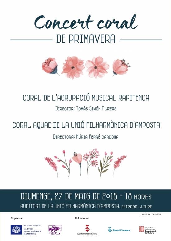 Societat Musical La Unió Filharmònica d´Amposta > Notícies > Concert coral de Primavera