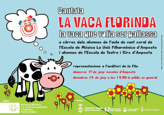 Societat Musical La Unió Filharmònica d´Amposta > Arxiu de notícies > «Florinda, la vaca pallassa»