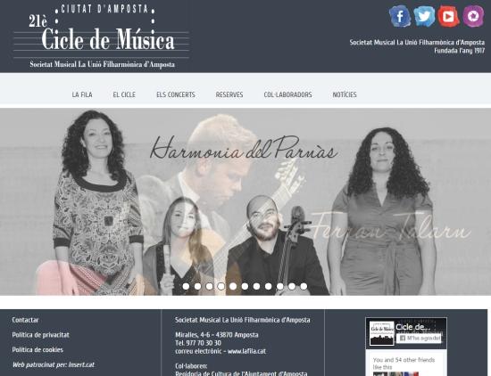 Societat Musical La Unió Filharmònica d´Amposta > Cicle de Música > CICLE DE MÚSICA 2015