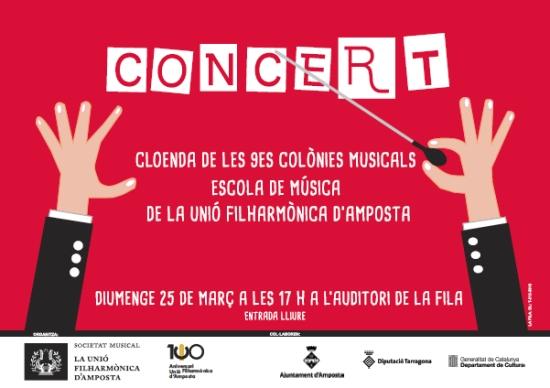 Societat Musical La Unió Filharmònica d´Amposta > Notícies > Concert de cloenda Colònies Musicals 2018