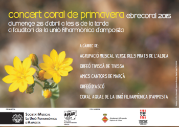 CONCERT CORAL DE PRIMAVERA. EbreCoral 2015