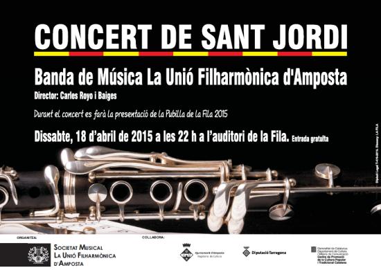 Societat Musical La Unió Filharmònica d´Amposta > Arxiu de notícies > CONCERT DE SANT JORDI 2015