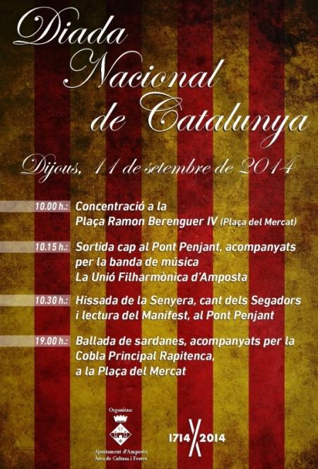 Societat Musical La Unió Filharmònica d´Amposta > Arxiu de notícies > DIADA NACIONAL DE CATALUNYA 2014