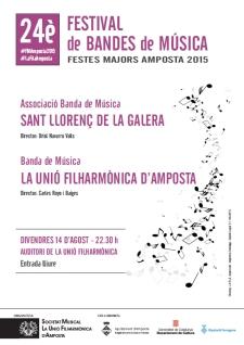 24è Festival de Bandes. Festes Majors Amposta 2015