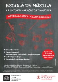 Inscripcions obertes matrícula curs 2020/21