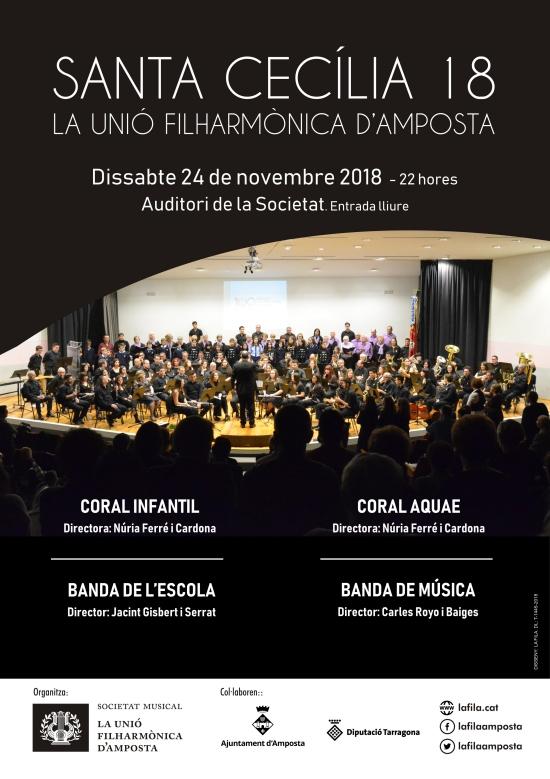Societat Musical La Unió Filharmònica d´Amposta > Notícies > Santa Cecília 2018