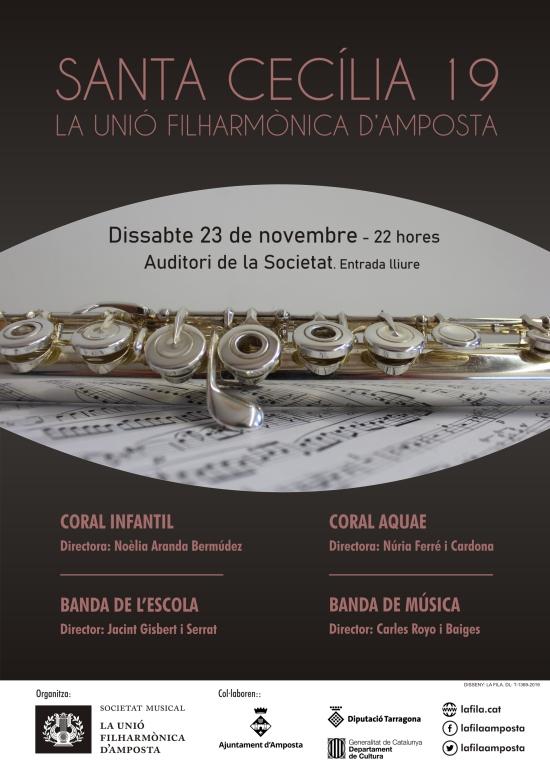Societat Musical La Unió Filharmònica d´Amposta > Notícies > Concert de Santa Cecília 2019
