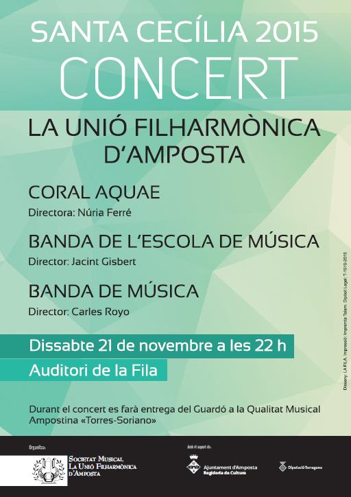 Societat Musical La Unió Filharmònica d´Amposta > Arxiu de notícies > SANTA CECÍLIA 2015