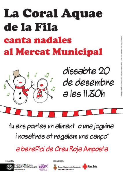 Societat Musical La Unió Filharmònica d´Amposta > Arxiu de notícies > LA CORAL DE LA FILA CANTA NADALES AL MERCAT