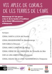 LA CORAL AQUAE DE LA UNIÓ FILHARMÒNICA D'AMPOSTA ORGANITZA EL VII APLEC DE CORALS DE TERRES DE L'EBRE.