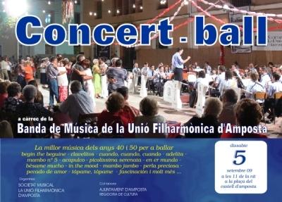 Societat Musical La Unió Filharmònica d´Amposta > Banda de Música > CONCERT-BALL A LA FRESCA