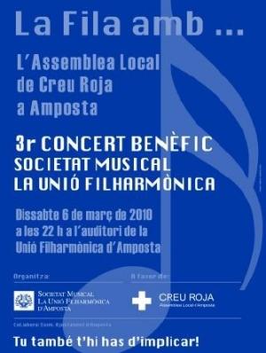 Societat Musical La Unió Filharmònica d´Amposta > Banda de Música > LA FILA AMB... 3er.CONCERT BENÈFIC