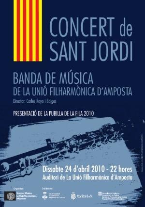 Societat Musical La Unió Filharmònica d´Amposta > Banda de Música > CONCERT DE SANT JORDI 2010