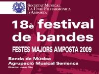 18è FESTIVAL DE BANDES. FESTES MAJORS AMPOSTA 2009