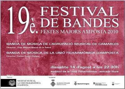 Societat Musical La Unió Filharmònica d´Amposta >  > Programa del 19è Festival de Bandes Amposta 2010.