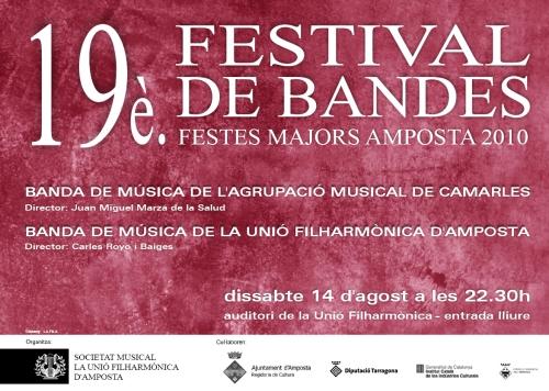 Societat Musical La Unió Filharmònica d´Amposta > Banda de Música > 19è. FESTIVAL DE BANDES DE MÚSICA