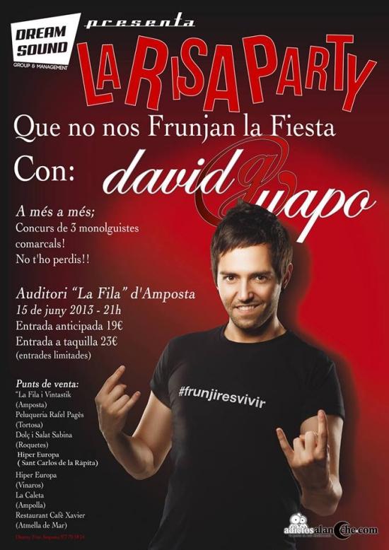 Societat Musical La Unió Filharmònica d´Amposta > Arxiu de notícies > LA RISA PARTY AMB DAVID GUAPO