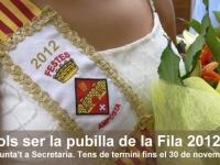 VOLS SER LA PUBILLA DE LA FILA 2012 ?