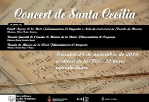 Societat Musical La Unió Filharmònica d´Amposta > Arxiu de notícies > PROGRAMA D´ACTES SANTA CECÍLIA 2010