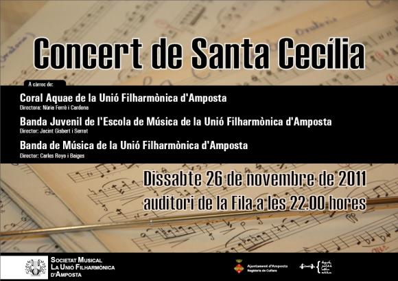 Societat Musical La Unió Filharmònica d´Amposta > Arxiu de notícies > SANTA CECÍLIA 2011