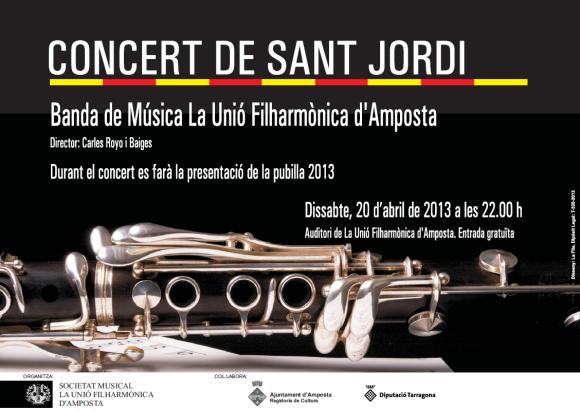 """Societat Musical La Unió Filharmònica d´Amposta > Arxiu de notícies > <img src=""""img/concert_stjordi2013_portada.png"""">"""