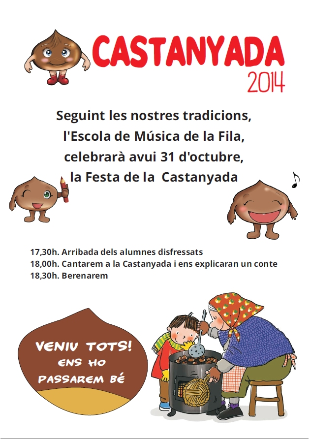 Societat Musical La Unió Filharmònica d´Amposta > Arxiu de notícies > LA CASTANYADA 2014