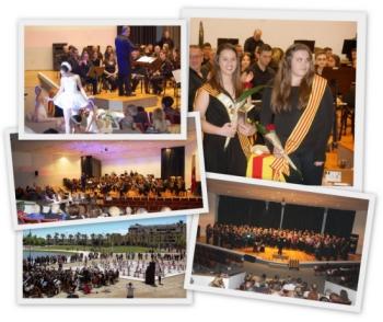 A l'abril totes les formacions de la Unió Filharmònica d'Amposta participen de la Diada De Sant Jordi