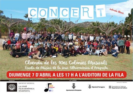 Societat Musical La Unió Filharmònica d´Amposta > Notícies > Colònies Musicals 2019