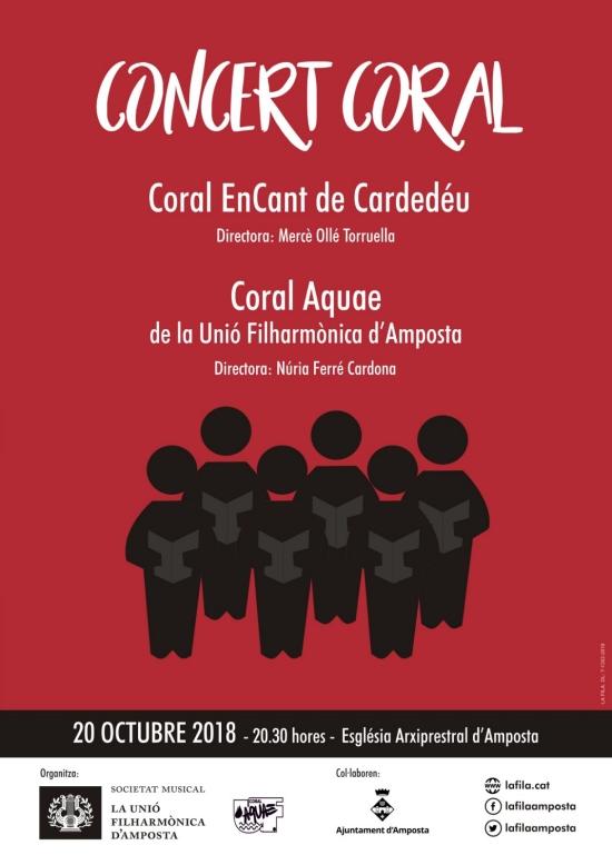 Societat Musical La Unió Filharmònica d´Amposta > Notícies > Concert coral