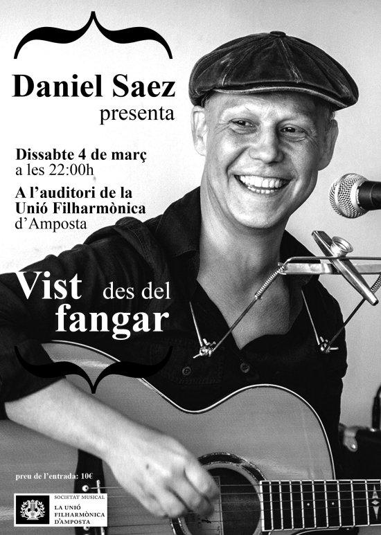 Societat Musical La Unió Filharmònica d´Amposta > Notícies > Daniel Sáez presenta el seu treball VIST DES DEL FANGAR