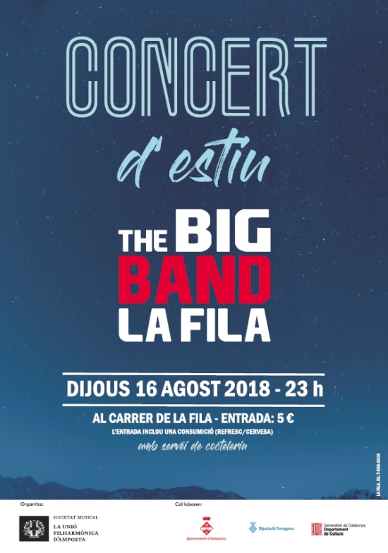 Societat Musical La Unió Filharmònica d´Amposta > Notícies > Concert d´estiu de la Big Band de la Fila