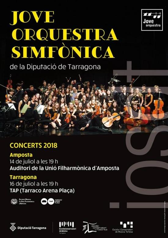 Societat Musical La Unió Filharmònica d´Amposta > Notícies > Concert de la Jove Orquestra Simfònica de la Diputació de Tarragona