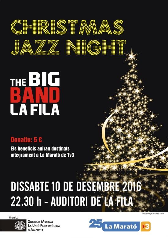 Societat Musical La Unió Filharmònica d´Amposta > Arxiu de notícies > CHRISTMAS JAZZ NIGHT AMB LA BIG BAND DE LA FILA