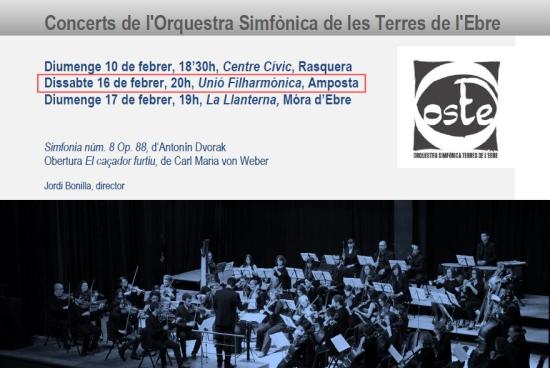 Societat Musical La Unió Filharmònica d´Amposta > Notícies > Concert de l´OSTE