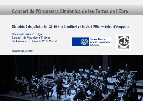 Societat Musical La Unió Filharmònica d´Amposta > Arxiu de notícies > Concert de l´Orquestra Simfònica de les Terres de l´Ebre