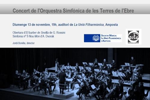 Societat Musical La Unió Filharmònica d´Amposta > Arxiu de notícies > Concert de l´Orquestra Simfònica de les Terres de l´Ebre (OSTE)