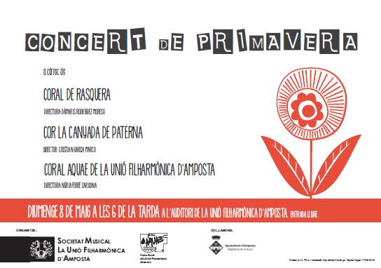 Societat Musical La Unió Filharmònica d´Amposta > Arxiu de notícies > CONCERT DE PRIMAVERA 2016