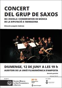 Concert del Grup de Saxos de l´Escola i Conservatori de Música de Tarragona