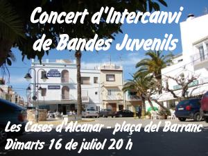 CONCERT D´INTERCANVI DE BANDES JUVENILS A LES CASES D´ALCANAR