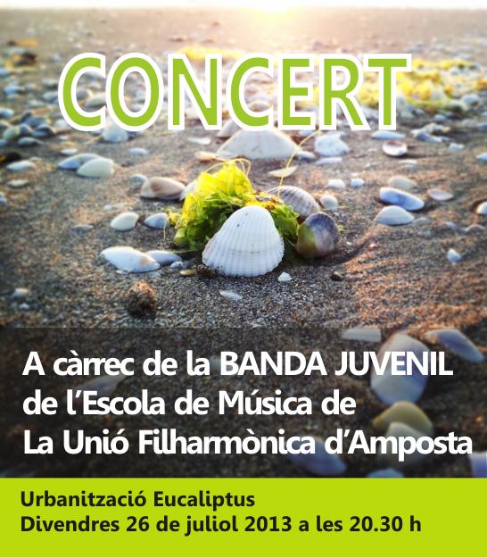 Societat Musical La Unió Filharmònica d´Amposta > Arxiu de notícies > CONCERT. Festes Urbanització Eucaliptus 2013