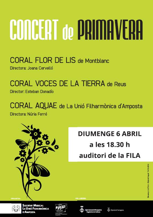 Societat Musical La Unió Filharmònica d´Amposta > Arxiu de notícies > CONCERT CORAL DE PRIMAVERA