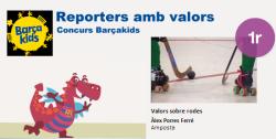 L´alumne Àlex Porres, guanyador del primer premi del concurs BarçaKids